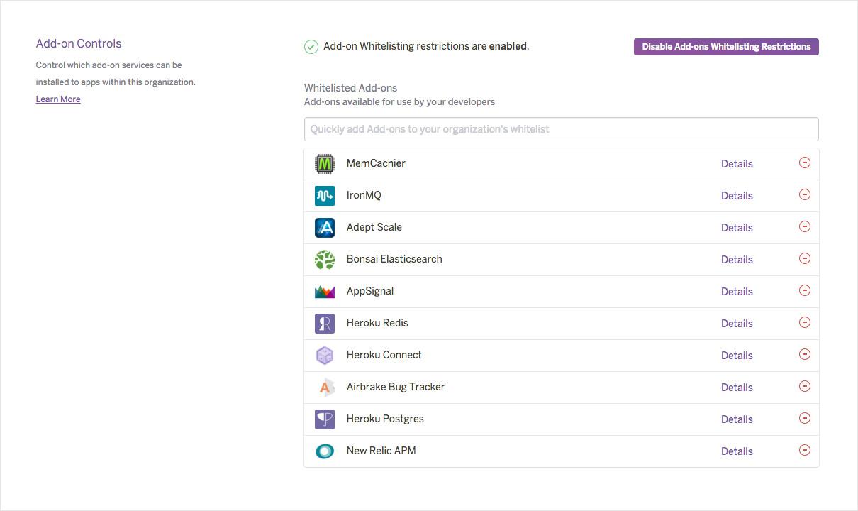 Addons-Controls-Dashboard