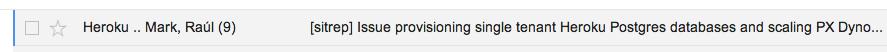 Internal sitrep email thread