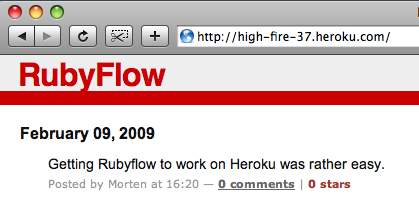 Rubyflow on Heroku