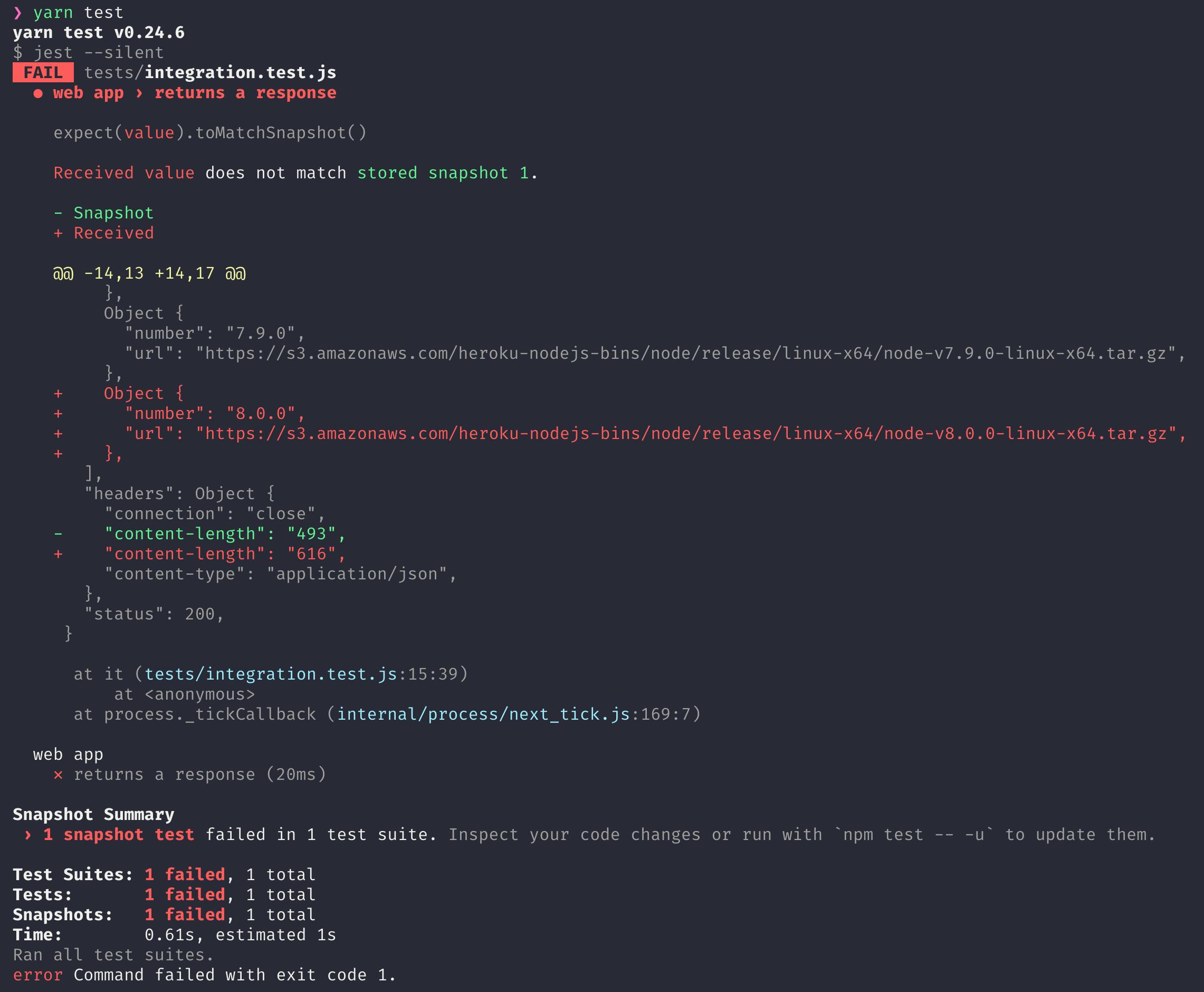 jest-snapshot-testing