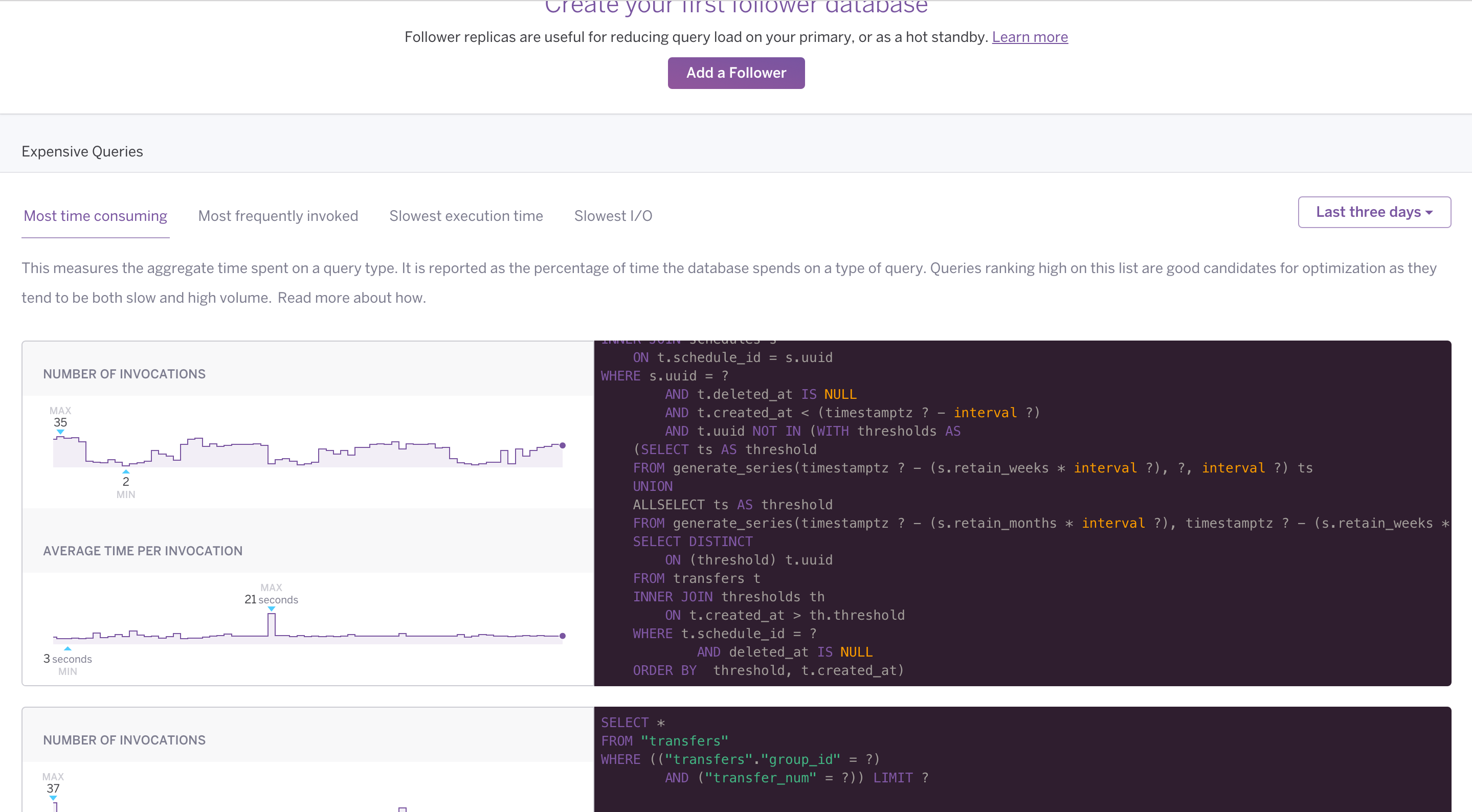 Expensive queries on Heroku Data Dashboard
