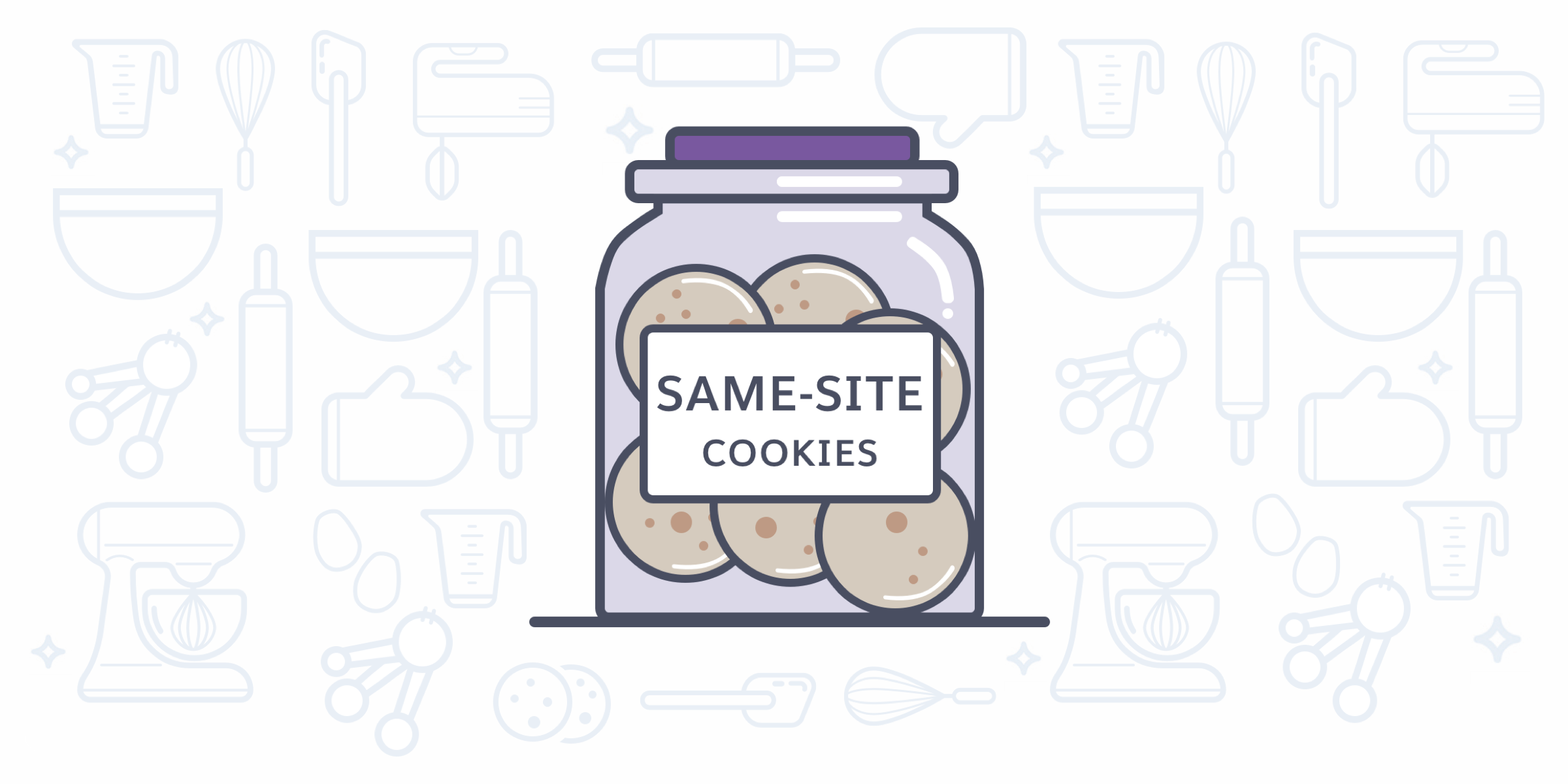Blog post cover image showing a jar with cookies in it