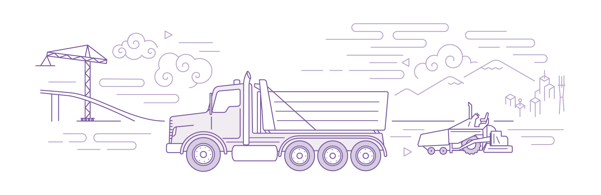 asphalt truck illustration