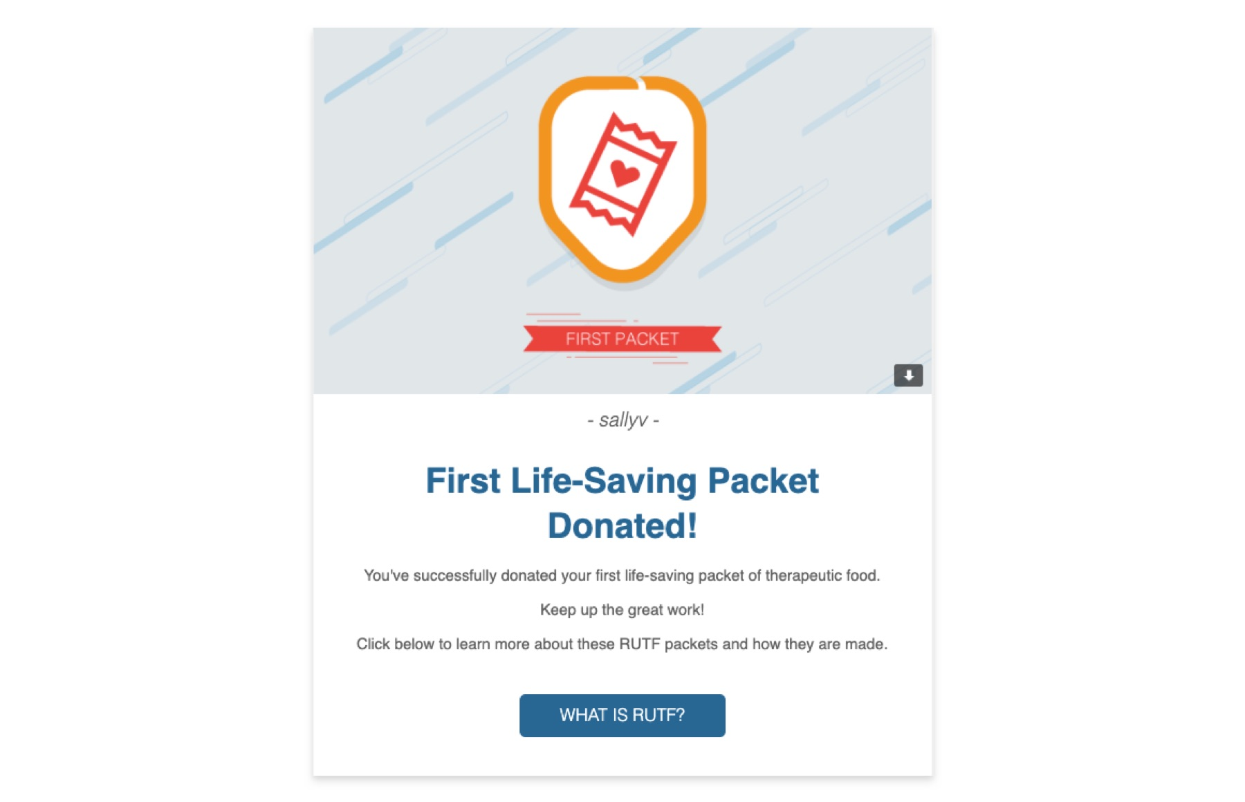 First life-saving packet email notification
