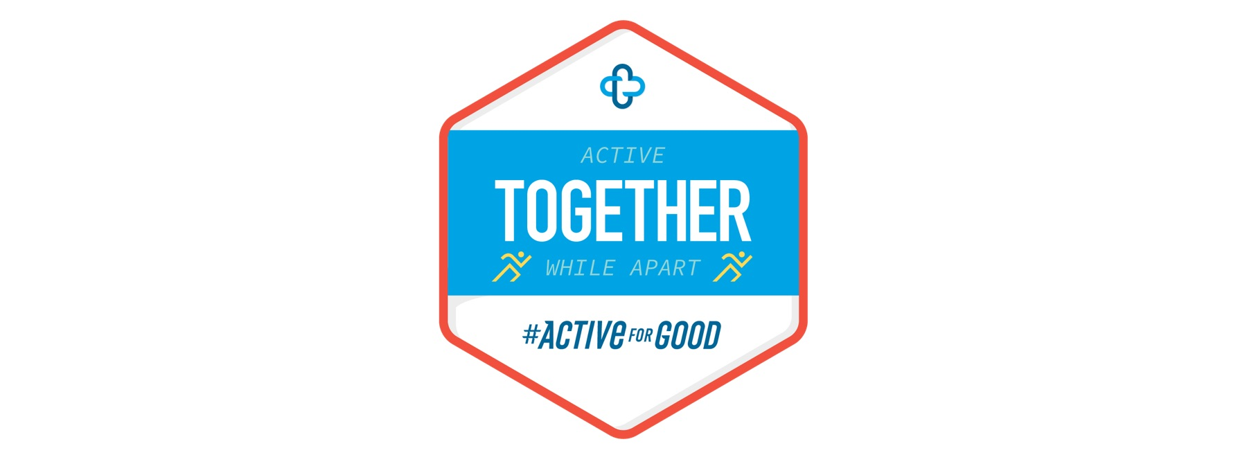 "Active For Good ""Active Together While Apart"" badge"